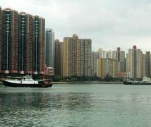 香港荃湾暴风雨前随拍。