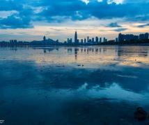 台风过后之深圳湾晚霞