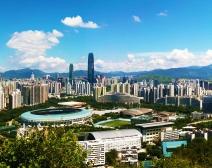 笔架山上的深圳城市风光