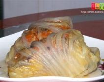 """来自""""大长今""""的韩国宫廷菜[千层泡菜肉丸]山寨版"""