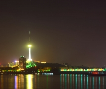 武汉江滩夜景