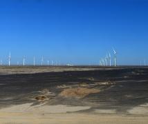 戈壁滩上风电阵