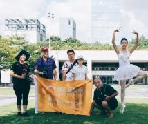 2017-08-08周二优乐娱乐平台《舞动街头》音乐厅街头芭蕾舞主题人像创作活动合影
