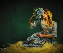 油画风《乌克兰女孩》