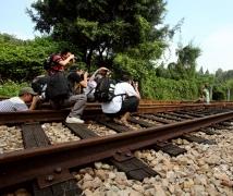 优乐娱乐平台《铁路往事》人像拍摄花絮