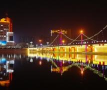 孔雀河夜景