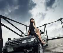 Cool car and beauty