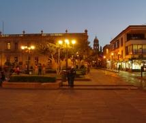 聖路易斯波多西的Plaza de Carmen夜景