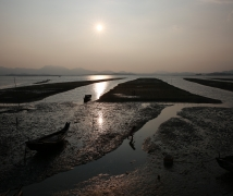 恵东盐洲岛的黄昏